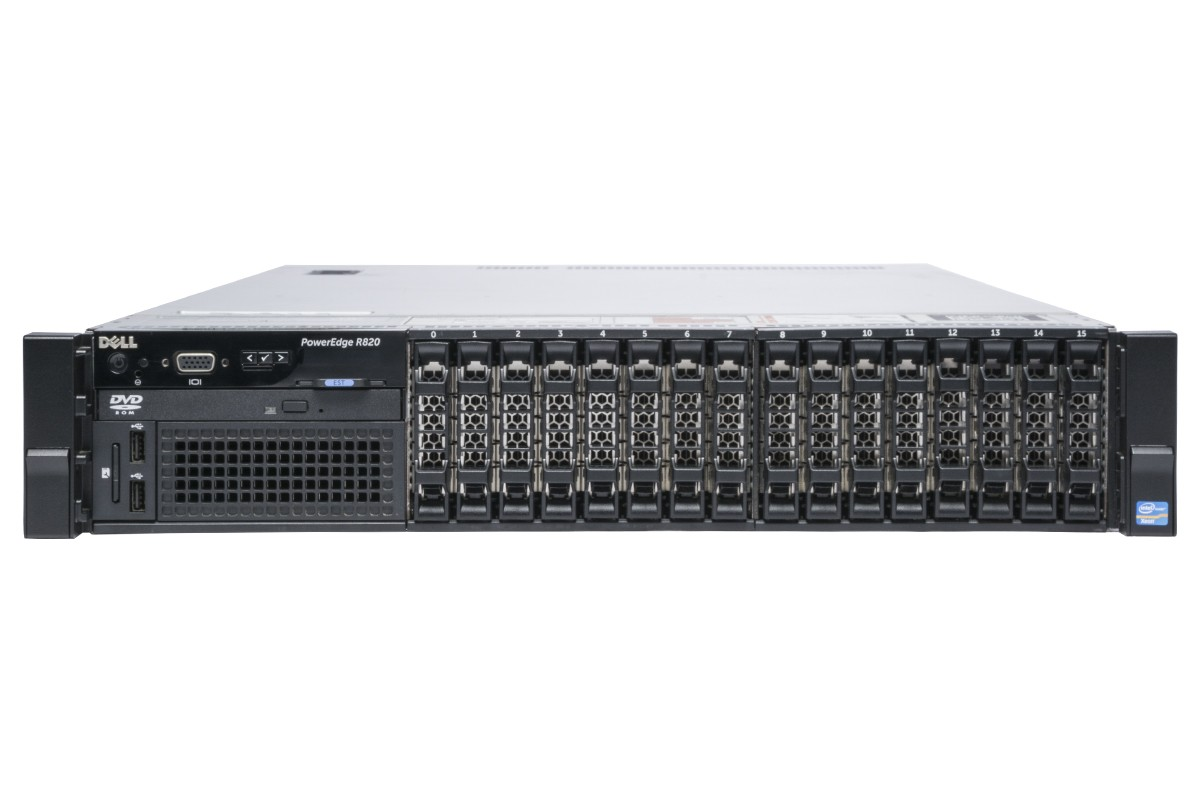 MÁY CHỦ DELL POWEREDGE R820 2X INTEL XEON E5-4603 DDR3 16G 300G X 2 RAID H310